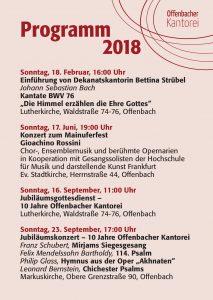 Jahresprogramm 2018